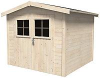 Abri de jardin bois, 5 m² ép.19 mm