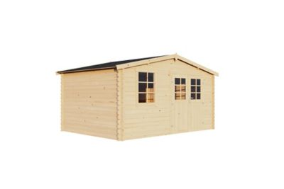 Abri de jardin bois, 12 m² ép.34 mm | Castorama