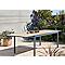 Table de jardin aluminium rectangulaire Blooma Morlaix 180/270 x 100 cm