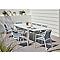 Table de jardin aluminium et verre rectangulaire Blooma Bacopia blanche 200/300 x 100 cm