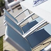 Fauteuil de jardin aluminium et toile Blooma Bacopia bleu