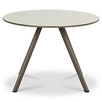 Table basse métal ronde Blooma Derry anthracite ø60 cm