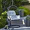 Chaise de jardin Oeuf métal et toile Blooma Cannock gris
