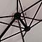 Parasol déporté Blooma Cotule gris ø300 cm
