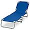 Bain de soleil métal et toile Curacao bleu saphir