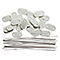 26 fixations BV BLOOMA blanches