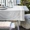 Nappe frange Blooma Rural 140 x 190 cm gris