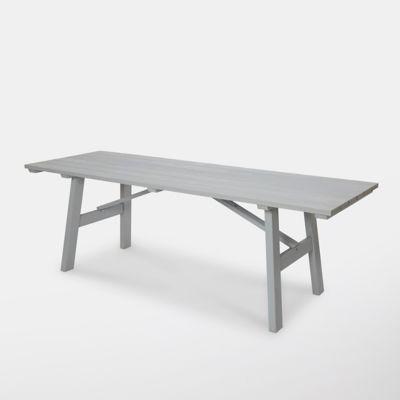Table de jardin bois Blooma Rural gris 220 x 74 cm | Castorama