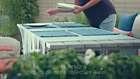 Table de jardin en bois Rural gris 220 x 85 cm