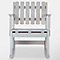 Rocking chair 1 place pin Blooma Rural gris