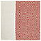 Coussin Blooma Rural 45 x 45 cm blanc/terracotta