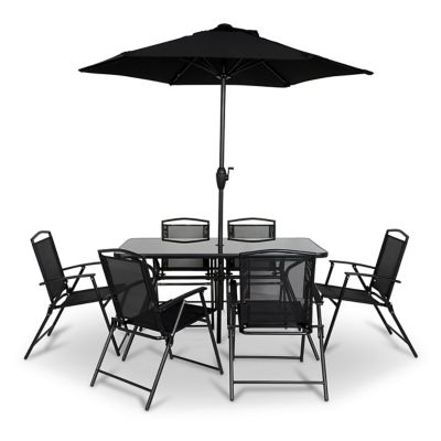 Set Bahama 6 fauteuils + parasol + table | Castorama
