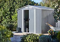 Abri de jardin métal Blooma Basic, 6,1 m² ép. 0,3 mm