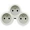 Multiprise 3 prises 16A blanc/gris