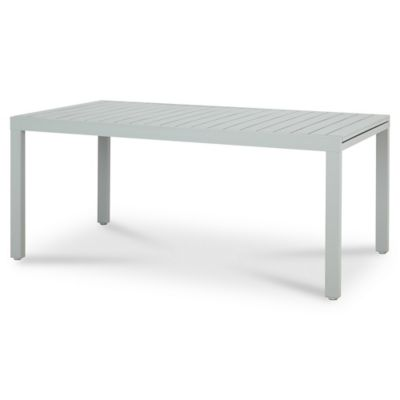 Table de jardin aluminium rectangulaire Blooma Baldi grise 178/271 x ...