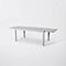 Table de jardin aluminium rectangulaire Blooma Baldi grise 178/271 x 100 cm