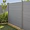 Lame de clôture composite Neva taupe (lot de 3 lames)