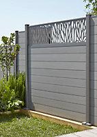 Poteau aluminium Neva taupe h.240 cm (sans base)