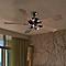 Ventilateur de plafond COLOURS Tioga chrome 3 x GU10 Ø132 cm