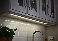 Réglette à détection LED Diall Upha argent 19W 120 cm IP20