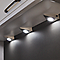 3 spots LED raccordables Diall Huetter triangle chrome 2,5W IP20
