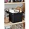 Boîte en plastique 14L Fitty noir