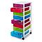 Tour en plastique 8tiroirs Kontor multicolore H. 68 x L. 36,5 x P. 26cm
