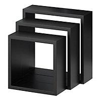 Lot de 3 cubes Noirs Rigga Form