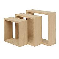 Lot de 3 cubes bois Rigga Form