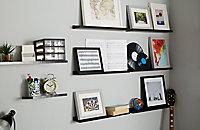 Tablette pour cadres photo Noire Rigga Form60 cm