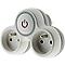Multiprise 2 prises DIALL 16A avec interrupteur blanc/gris