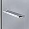 Pare-baignoire 1 volet verre gris fumé anticalcaire Cooke and Lewis Nubia H. 150 x l. 95 cm