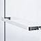 Porte semi-pivotante 87,5 - 92,5 Naya en verre