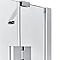 Porte semi-pivotante 97,5 - 102,5 en verre Naya