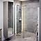 Paroi de douche walk in 122,5 - 125 cm (77,5 + 45 cm) en verre