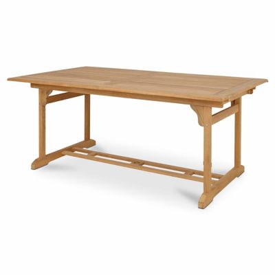 Table de jardin rectangulaire en Teck Roscana, 180/240 x 110 cm