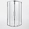 Accès d'angle circulaire Zilia transparente 90 cm 2/2