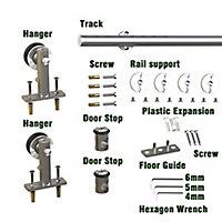 Système coulissant 1 pour porte en bois