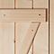 Porte de service bois 200 x 80 cm poussant gauche
