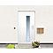 Porte d'entrée pvc Eiger blanc 90 x h.215 cm poussant droit