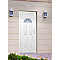 Porte d'entrée pvc Demi lune blanc 90 x h.215 cm poussant gauche