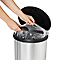 Poubelle Touch effet métallique 40L Amphora