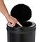 Poubelle Touch ronde en métal noir 30L Allium