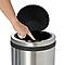 Poubelle Touch ronde en acier inoxydable 30L Allium