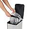 Poubelle à pédale rectangulaire effet métallique 40L Lantana