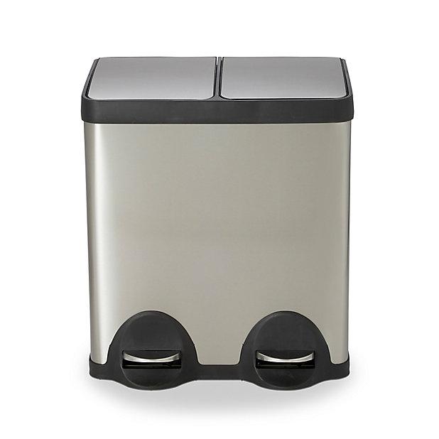 Poubelle De Recyclage Rectangulaire 2 Compartiments 40 L Cleome Castorama
