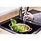 Mitigeur de cuisine noir avec douchette en caoutchouc COOKE & LEWIS Kloey