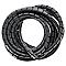 Gaine à spirales DIALL plastique noir 2,5 x ø 9 à 80 mm