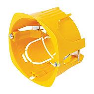 Boîte de dérivation à encastrer pour cloison sèche avec entrées et système de fermeture à vis Diall 85X40mm