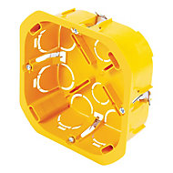 Boîte de dérivation à encastrer pour cloison sèche avec entrées et système de fermeture à vis Diall 100x100x40 mm